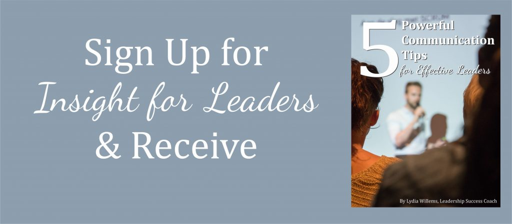 Insight for Leaders By Lydia Willems